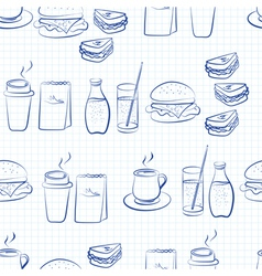 Food and beverages linear design vector