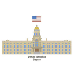 Wyoming state capitol vector