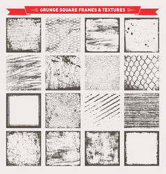 grunge square frames backgrounds textures vector image