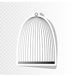 Bird cage sign  new year blackish icon on vector