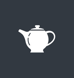 The teapot icon tea symbol vector