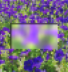 Abstract frame with column mosaic vector image