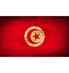 Flags tunisia with dirty paper texture vector