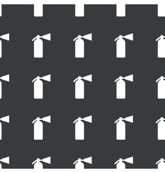 Straight black fire extinguisher pattern vector