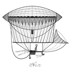 Doodle airship vector