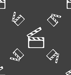 Cinema clapper sign icon video camera symbol vector