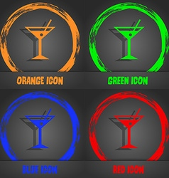Cocktail martini alcohol drink icon fashionable vector