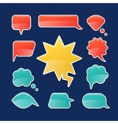 Cartoon speech bubbles vector image