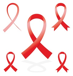 red sign ribbon cancer symbol vector image