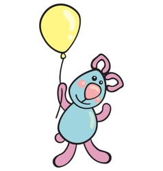 Teddy with balloon vector image