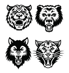 Animal Mascot Logo Set vector image