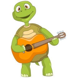 Funny Turtle Guitarist vector image