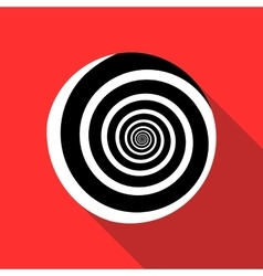 Spiral icon in flat style vector