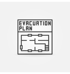 Evacuation plan icon vector