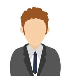 Man with tie vector
