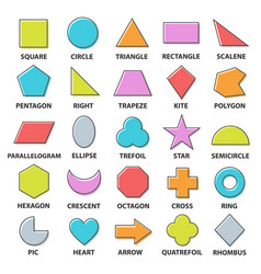 basic shapes set vector image