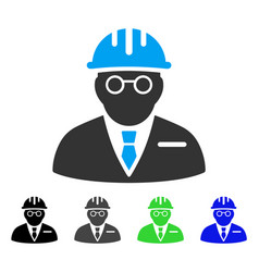 Blind engineer flat icon vector