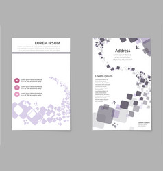 business set brochure template layout cover vector image vector image