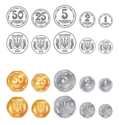 Coins ukrainian vector image