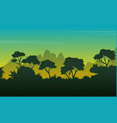 collection jungle forest beauty scenery vector image vector image
