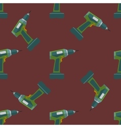Electric screwdriver seamless pattern vector