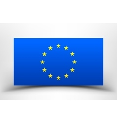 EU flag with soft shadow vector image vector image
