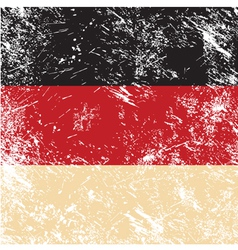Germany retro flag vector image vector image