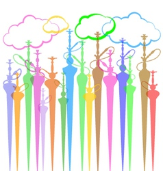 Hookah background vector