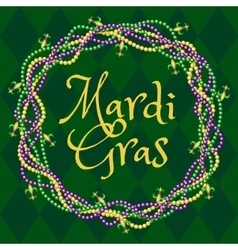 Mardy gras green background vector image vector image