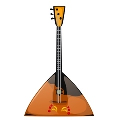 Musical instrument balalaika on a white background vector image vector image