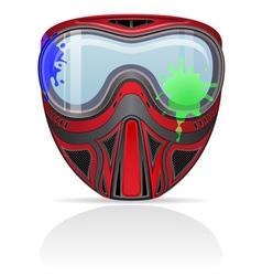 paintball mask 02 vector image