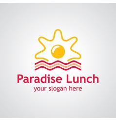Paradise lunch logo vector
