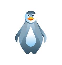 Penguin bird stylized geometric animal low poly vector