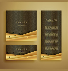 Premium banners set in different sizes vector