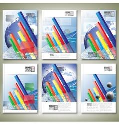 Progressive bar chart brochure flyer or report for vector
