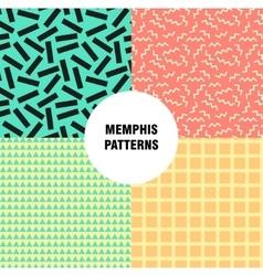 Retro vintage 80s or 90s fashion style Memphis vector image