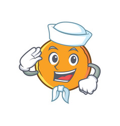 Sailor orange fruit cartoon character vector