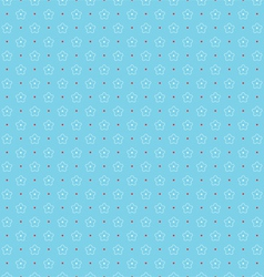 Seamless pattern of outlines white flowers and vector image vector image