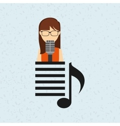 singer isolated design vector image vector image