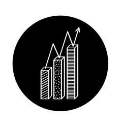 Statistics bar isolated icon vector