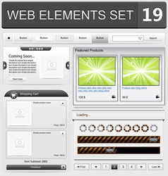 web elements set 19 vector image vector image