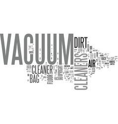 Which vacuum cleaner let s suck it and see text vector