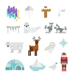 Wild north arctic people vector
