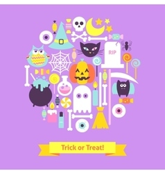 Trick or treat halloween trendy concept vector
