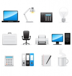 office icons set vector image