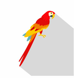Scarlet macaws icon flat style vector