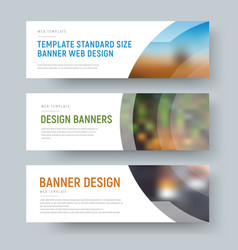 Design of standard white web banners with space vector