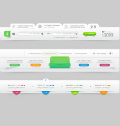 Business website template infographic design menu vector