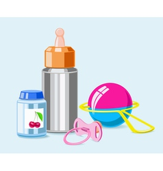 Accessories for breastfeeding vector
