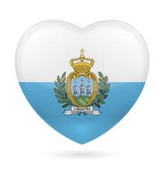 Heart icon of san marino vector